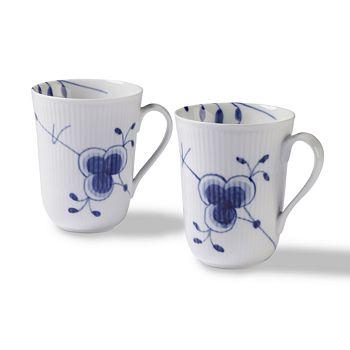 Royal Copenhagen - Blue Fluted Mega Mugs, Set of 2