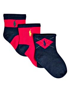 Ralph Lauren - Boys' Multi Socks, 3 pack - Baby