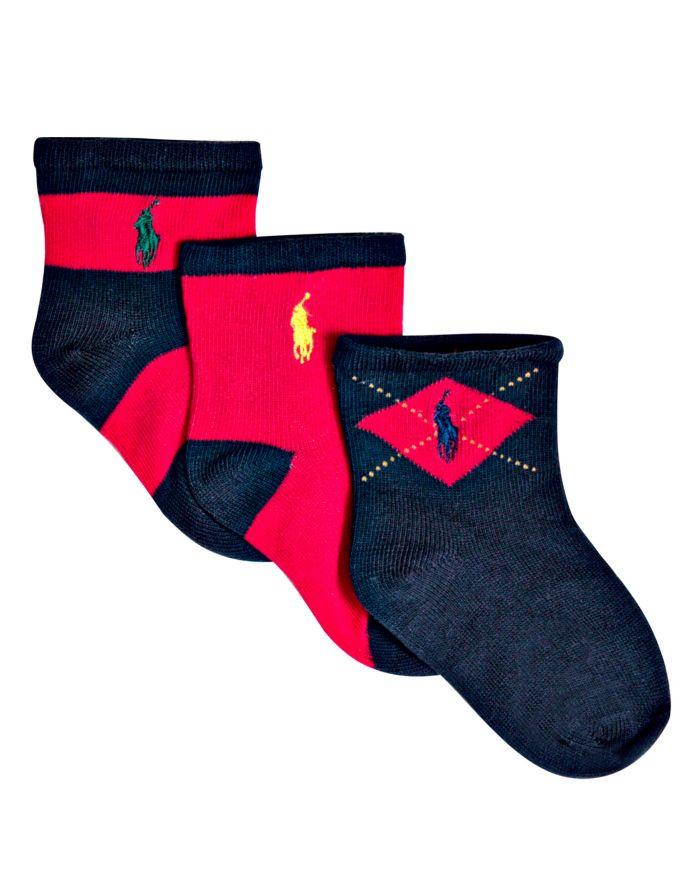 Ralph Lauren Boys' Multi Socks, 3 pack - Baby    Bloomingdale's