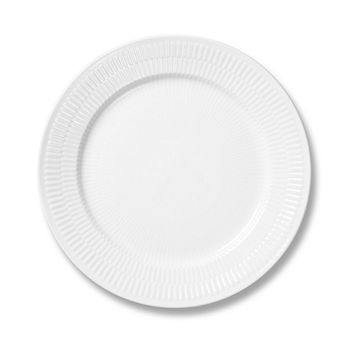 Royal Copenhagen - White Fluted Plain Salad/Dessert Plate