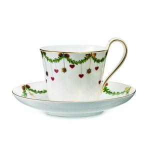 Royal Copenhagen Star Fluted High-Handled Cup & Saucer