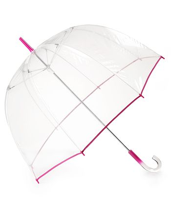 Bloomingdale's - Pink Border Bubble Umbrella - 100% Exclusive