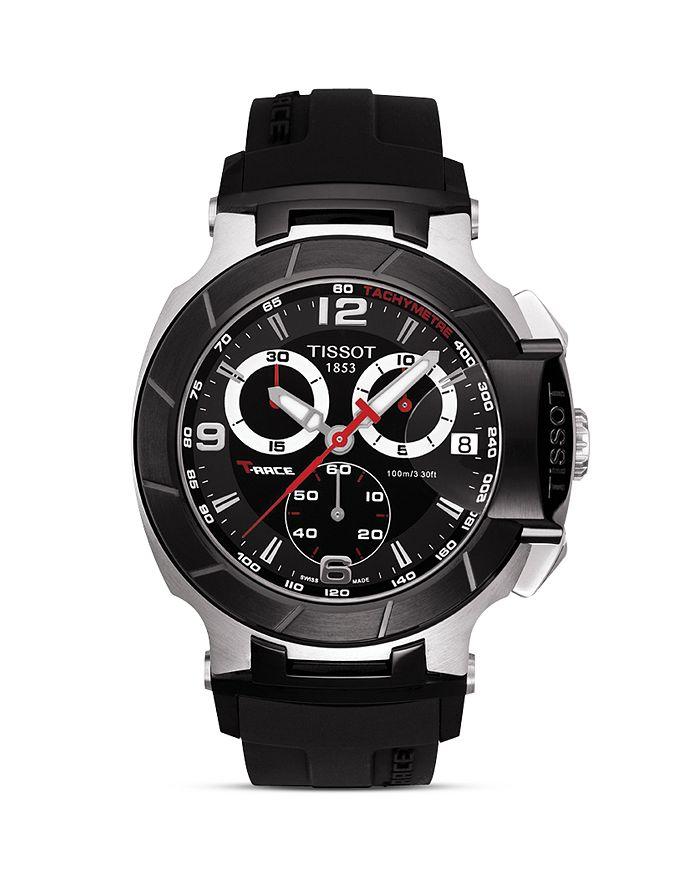Tissot - T-Race Men's Black Quartz Chronograph Rubber Strap Watch, 50mm