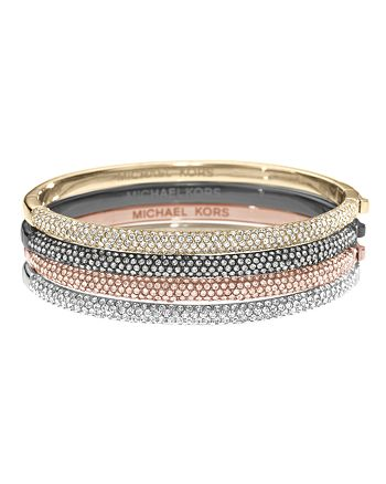 Michael Kors Pave Hinge Bangle Bracelet