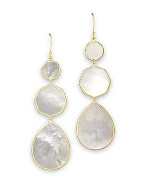 Ippolita 18K Gold Polished Rock Candy Crazy 8's Earrings in Mother-of-Pearl
