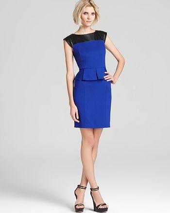 Cynthia Steffe - Dress - Dylan Leather Accented