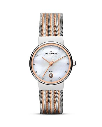 Skagen - Two Tone Expressions Mesh Watch, 26mm