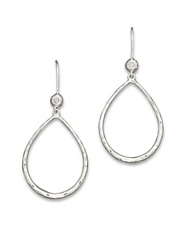 IPPOLITA - Ippolita Sterling Silver Open Teardrop Earrings with Diamonds