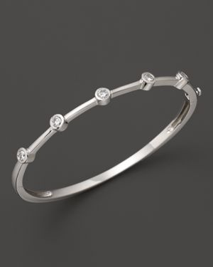 Diamond 5 Station Bangle in 14K White Gold, .60 ct. t.w. - 100% Exclusive