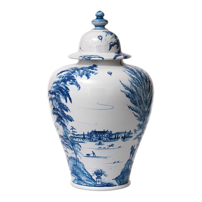 """Juliska - Country Estate Delft Blue 17"""" Lidded Ginger Jar"""
