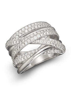 Bloomingdale's - Diamond Crossover Band in 14K White Gold, 1.45 ct. t.w.- 100% Exclusive
