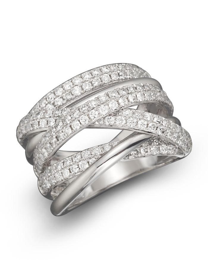 Bloomingdale's Diamond Crossover Band in 14K White Gold, 1.45 ct. t.w.  - 100% Exclusive    Bloomingdale's