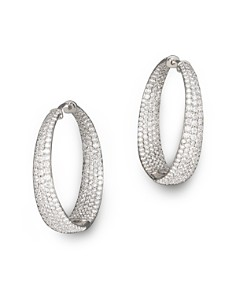 Roberto Coin 18K White Gold Large Scalare Diamond Earrings - Bloomingdale's_0