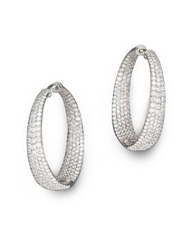 Roberto Coin - 18K White Gold Large Scalare Diamond Earrings
