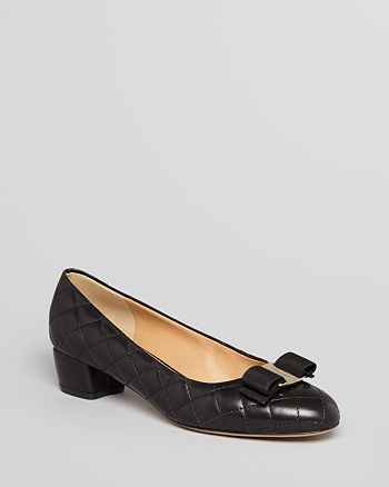 Salvatore Ferragamo - Pumps - Vara Quilted Low Heel
