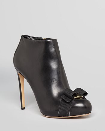Salvatore Ferragamo - Platform Booties - Royal Vara High-Heel