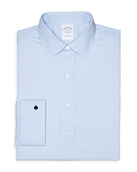 Brooks Brothers - Solid Broadcloth Non-Iron French Cuff Dress Shirt - Regent Fit