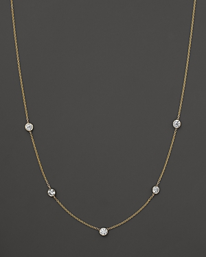 Diamond Station Necklace in 14K Yellow Gold, 1.25 ct. t.w.