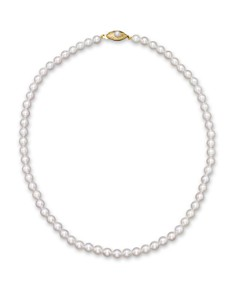 "Cultured Akoya Pearl Necklace in 14K Yellow Gold, 18"" - Bloomingdale's_0"