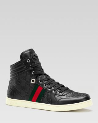 Guccissima Leather High Top Sneakers