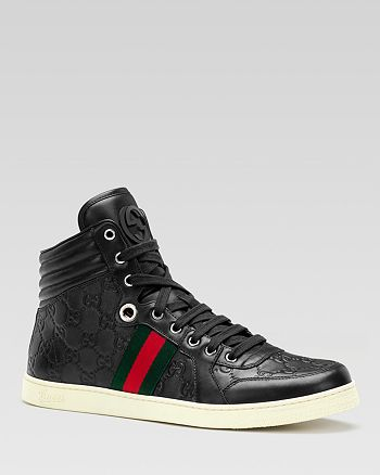 2fde3e13818 Gucci Men's Guccissima Leather High Top Sneakers | Bloomingdale's