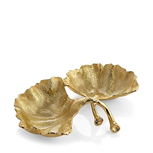 Michael Aram Ginkgo Two-Section Gold Dish