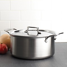 All-Clad - d5 Stainless Brushed 8-Quart Stock Pot with Lid