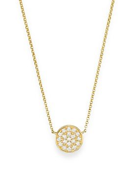 Bloomingdale's - Diamond Pavé Disk Pendant in 14K Yellow Gold, .25 ct. t.w.- 100% Exclusive