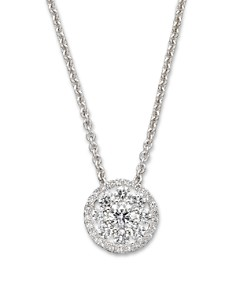 "Roberto Coin Diamond Pendant Necklace in 18K White Gold, 16"" - Bloomingdale's_0"