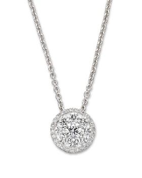 """Roberto Coin - Roberto Coin Diamond Pendant Necklace in 18K White Gold, 16"""""""