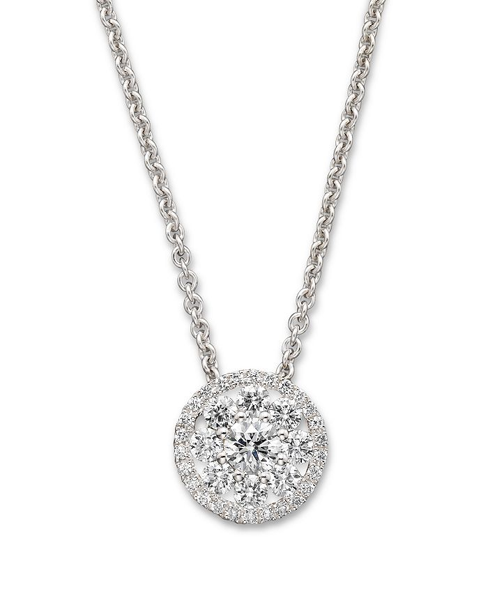 Roberto Coin - Diamond Pendant Necklace in 18K White Gold, 16""