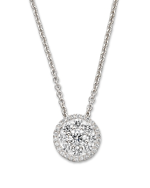 Roberto Coin Diamond Pendant Necklace in 18K White Gold, 16-Jewelry & Accessories