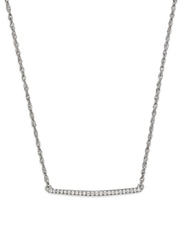 Bloomingdale's - Diamond Bar Necklace in 14K White Gold, .10 ct. t.w.- 100% Exclusive