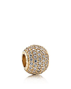 Pandora - Moments Collection 14K Gold & Cubic Zirconia Pave Lights Charm