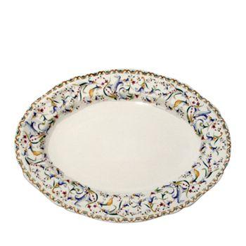 """Gien France - Toscana Oval Platter, 13.5"""""""