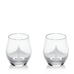 Lalique 100 Points Double Old-Fashioned Glass, Set of 2
