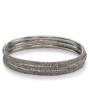 Abs by Allen Schwartz Pave Bangles, Set of 3