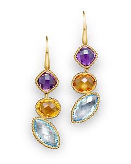 Bloomingdale's - 14K Yellow Gold and Multi Gem Drop Earrings- 100% Exclusive