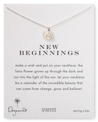 Dogeared New Beginnings Pendant Necklace 18 In Silver Modesens