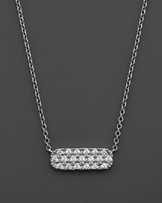 Small Diamond Bar Pendant in 14K White Gold, .12 ct. t.w. - Bloomingdale's_0