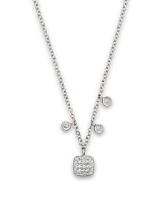 "Meira T 14K White Gold Square Pavé Diamond Disc Necklace, 16"" - Bloomingdale's_0"