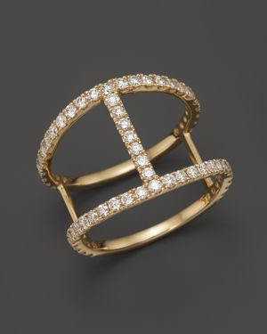 Diamond Bar Band in 14K Yellow Gold, .90 ct. t.w. - 100% Exclusive