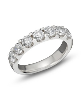 Bloomingdale's - Diamond Certified 7 Station Band in 18K White Gold, 1.5 ct. t.w.- 100% Exclusive