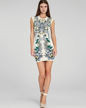 BCBGMAXAZRIA - Ellena Luxe Floral Jacquard Dress