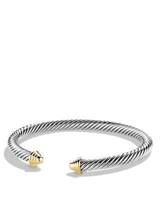 $David Yurman Cable Classics Bracelet with Gold - Bloomingdale's