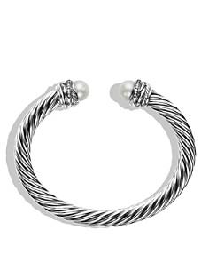 David Yurman - Crossover™ Bracelet with Pearls and Diamonds