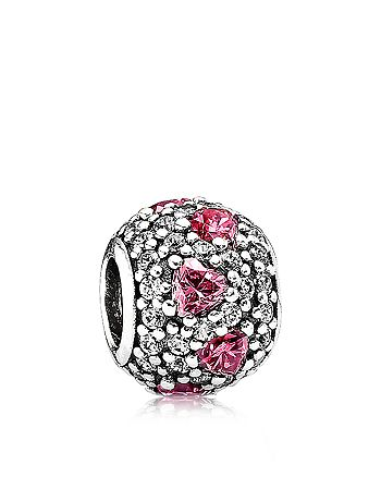 PANDORA - Sterling Silver & Cubic Zirconia Shimmering Heart Charm