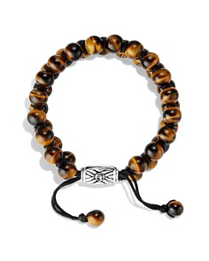 David Yurman - Spiritual Beads Two-Row Bracelet with Tiger's Eye