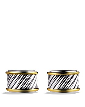 David Yurman - David Yurman Cable Cigar Band Cufflinks with Gold