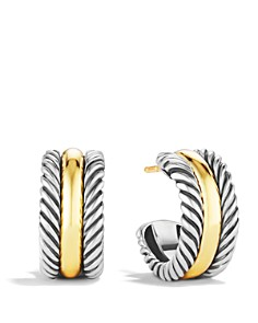 David Yurman - Cable Classics Hoop Earrings with Gold